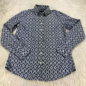 Banana Republic Ikat Soft Wash Button Front Shirt